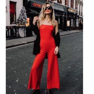 Urban Outfitters Red Spaghetti Straps Jumpsuit L
